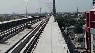jaipur metro first trial run at vivek vihar metro station