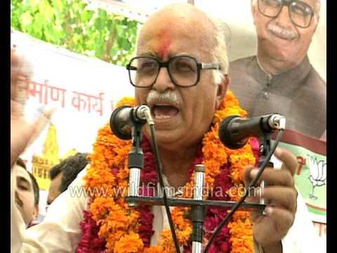 BJP politician LK Advani Election Cmpaign And Speech, India