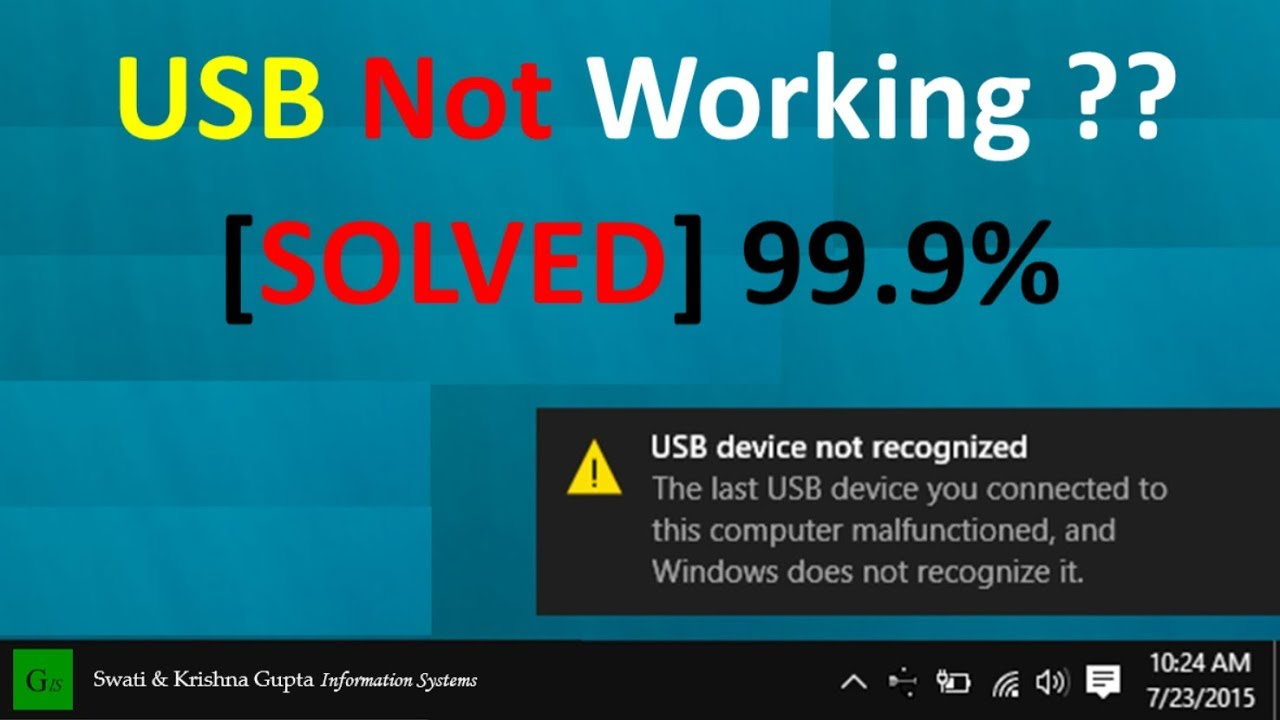 If the USB device is not recognized