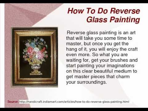 How to do reverse Glass Painting - YouTube