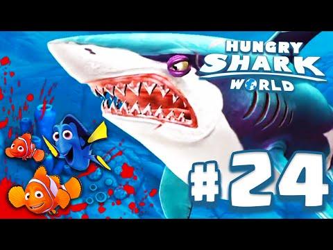 TUBARÃO PROCURANDO O NEMO! - Hungry Shark World #24 (HSW) - TUBARÃO BRANCO!