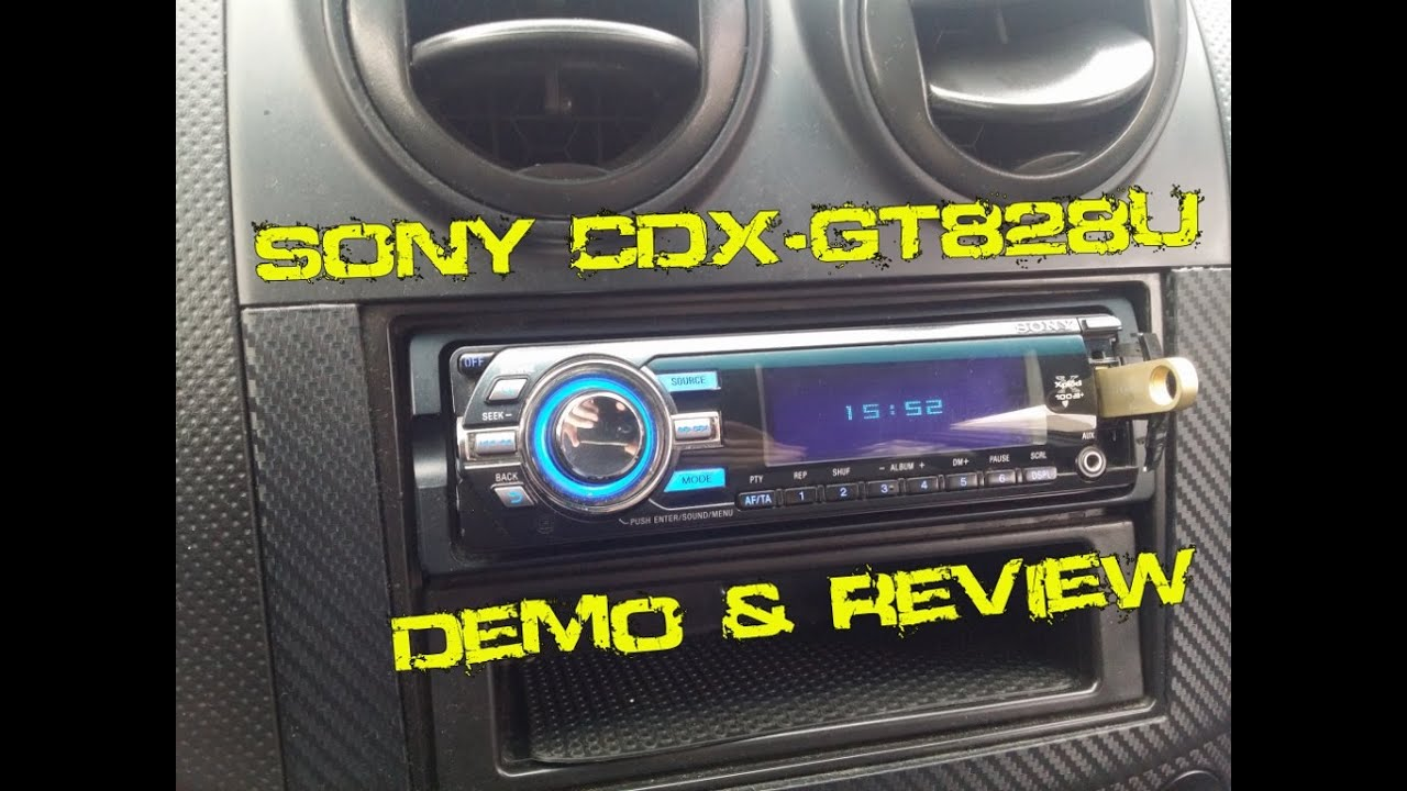 Sony cdx gt828u cd mp3 usb player demo review youtube sony cdx gt828u cd mp3 usb player demo review publicscrutiny Images
