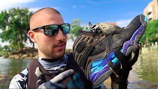 River Treasure: Found RETRO Jordans In River!!!!