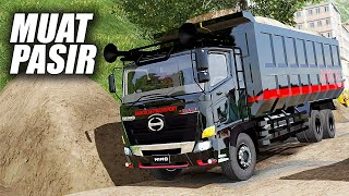 Truk Hino Dump Truck Ugal-Ugalan Muat Pasir Begini Jadinya- Ets2