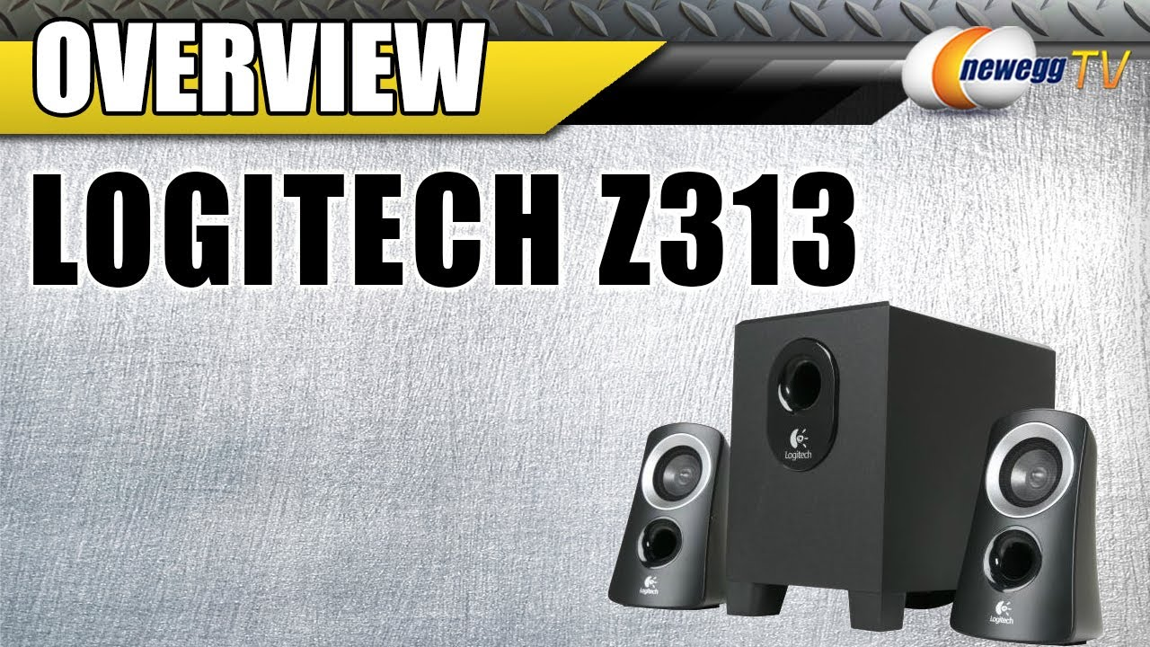 how to connect logitech z313 speakers to tv