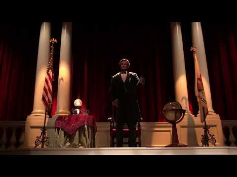 2017 Great Moments with Mr Lincoln - Lincolns Speech - Disneyland Park - Anaheim California