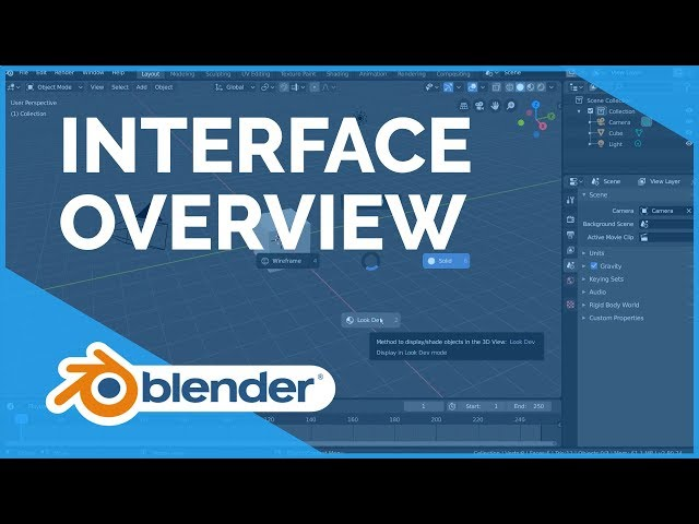 Interface Overview - Blender 2.80 Fundamentals