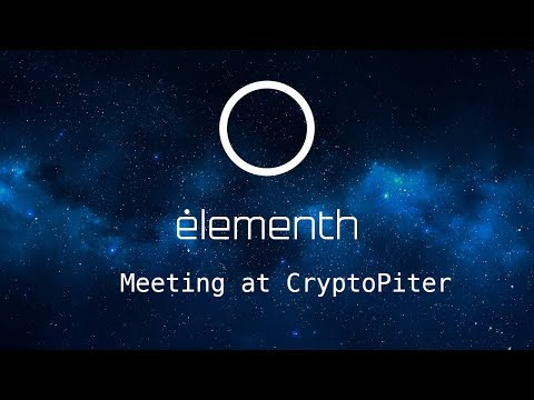 The Elementh's CEO speech on ICO trends in 2018.