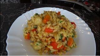 Жареный Рис по-тайски Као пад му #Жаренный рис со свининой и овощами.
