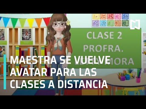 Maestra en Puebla usa un Avatar para dar las clases a distancia - En Punto
