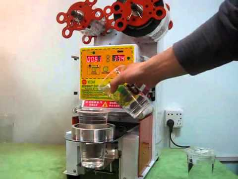 CE Certificate Plastic Cup Sealing Machine for Bubble Tea ...