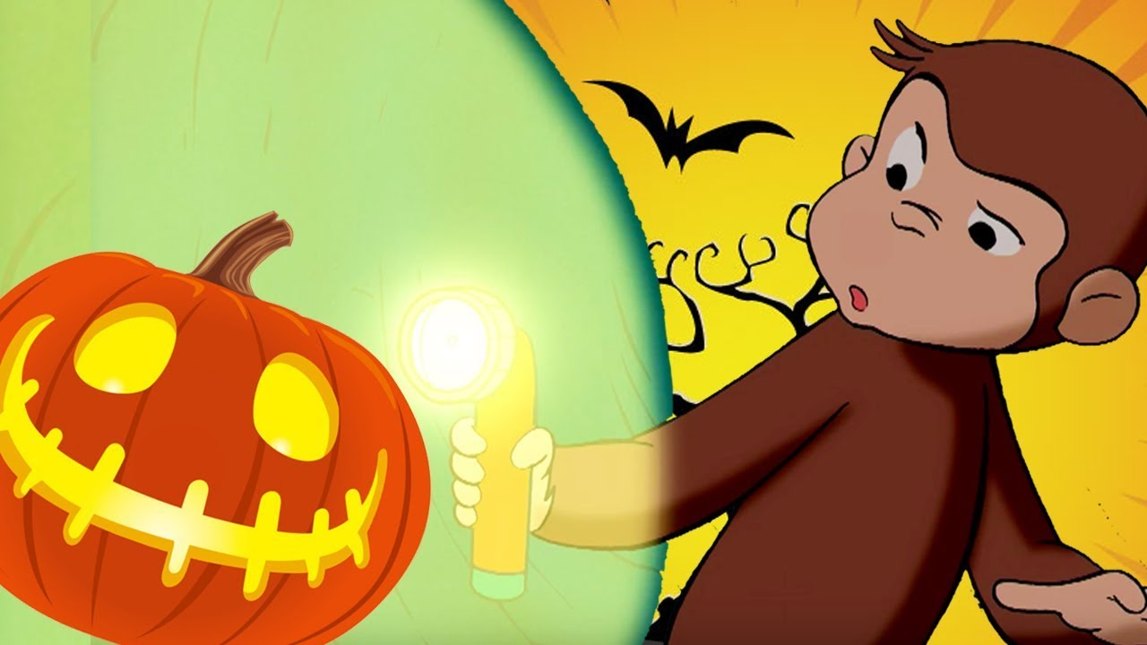 curious george 🐵👻halloween special - in the dark 🎃🐵 kids cartoon