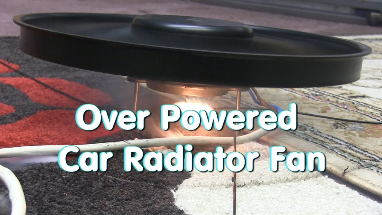 Wattage Radiator Over Powered Car Radiator Fan