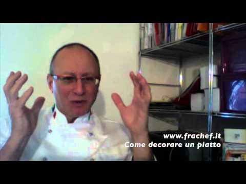 Corsi di cucina: come decorare un piatto - YouTube