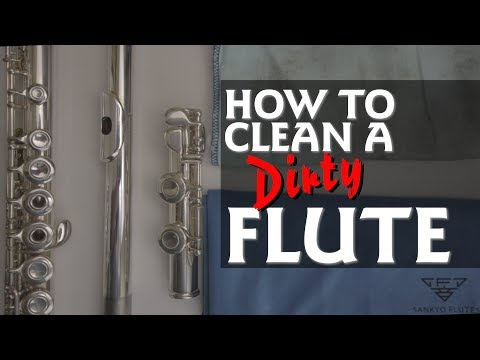 How To Clean A DIRTY Flute