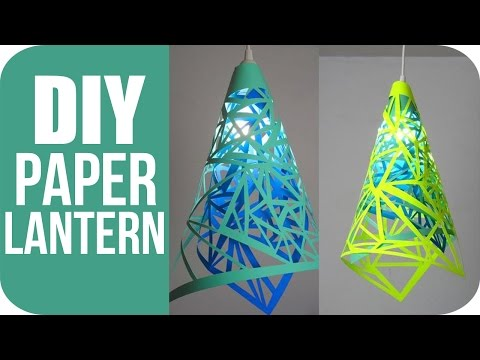 DIY Lanterns - How To Make Hanging Paper Lanterns
