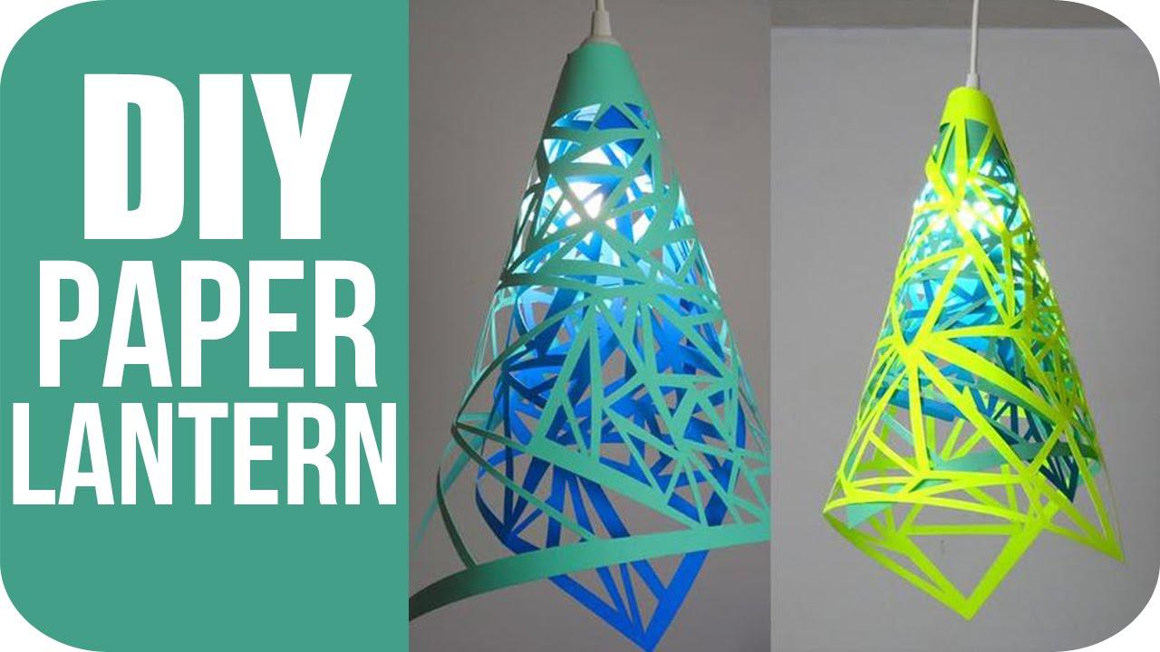 DIY Lanterns - How To Make Hanging Paper Lanterns - YouTube