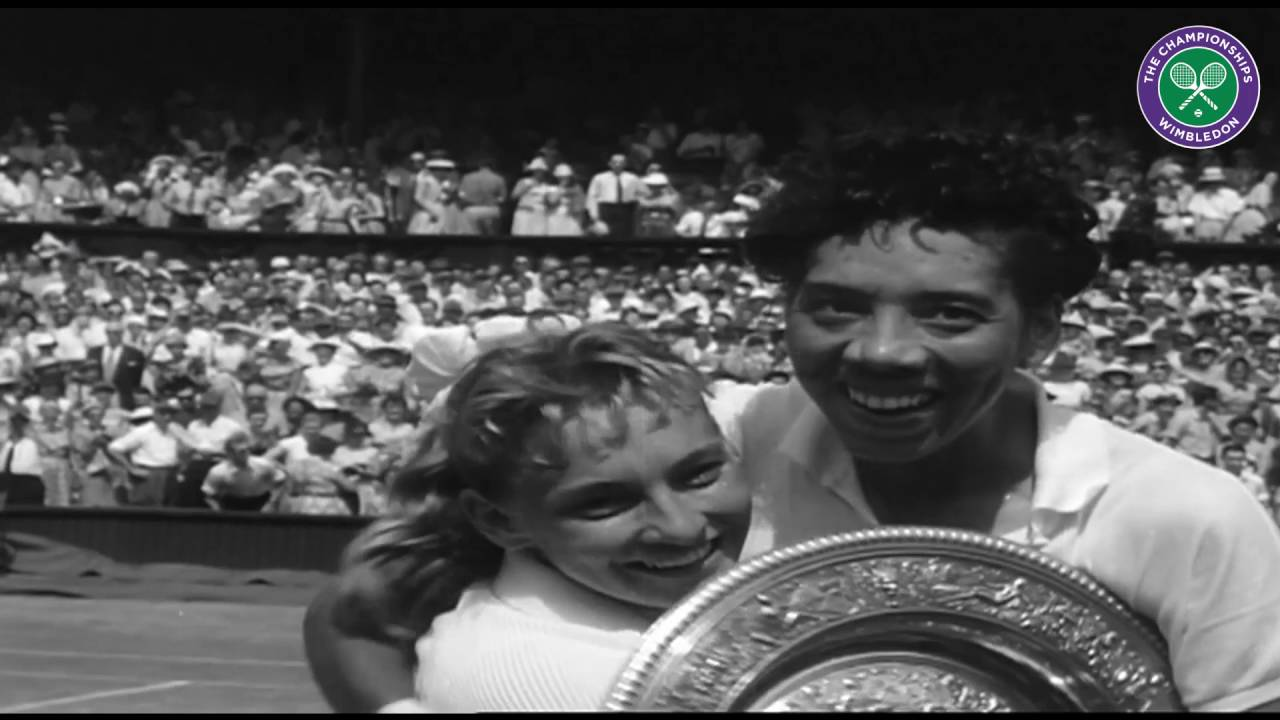 Althea Gibson be es first African American to win Wimbledon