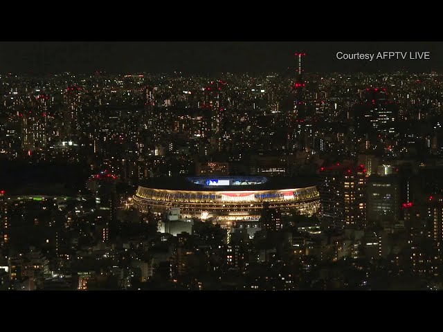 Tokyo 2020: Live of stadium and Tokyo skyline during the July 23, 2021 opening ceremonies