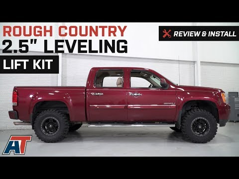 """2007-2018 Sierra Rough Country 2.5"""" Leveling Lift Kit Review & Install"""