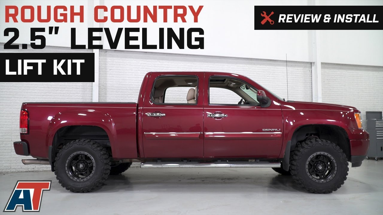 2007 2018 Sierra Rough Country 2 5 Leveling Lift Kit Review Install