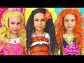 Kids Makeup & Costumes Disney Princess Dresses MOANA, Merida, Aurora, Rapunzel,Cinderella-Collection