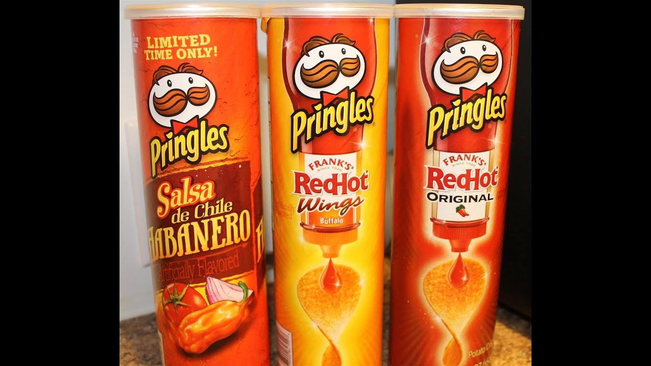 Pringles: Salsa Habanero, Red Hot Wings & Red Hot Original ...