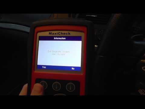 Autel MaxiCheck Pro  In Action DPF Regeneration, SRS ABS Fault Code Reading