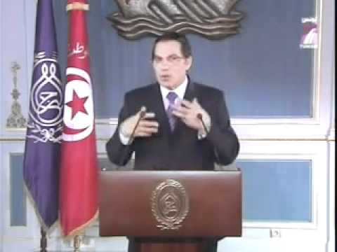 Discours du president Ben ali 13 janvier 2011   Elections 2014 en tunisie   YouTube