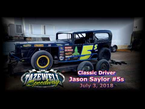 Classic: Jason Saylor #5s In Car Cam @ Tazewell Speedway July 3, 2018