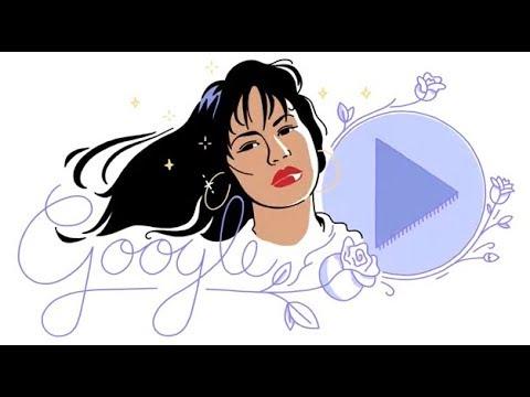 La cantante Selena Quintanilla es un doodle musical de Google