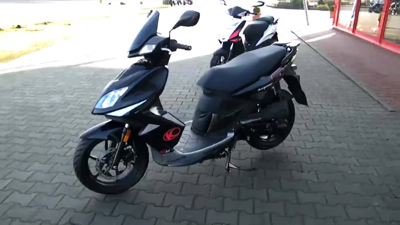 kymco super 8 50 4t oder 2t roller youtube