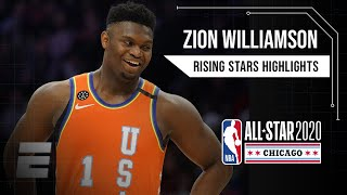 Download Zion Williamson, Ja Morant put on a show for Team USA in Rising Stars game | 2019-20 NBA Highlights Mp3 and Videos