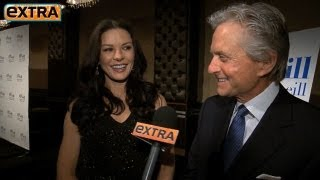 Catherine Zeta-Jones Presents Honor to Michael Douglas