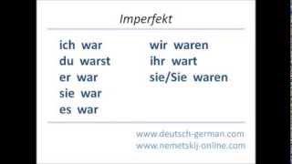 Немецкий язык онлайн, спряжение глагола sein