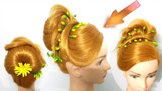 How to do Princess hairstyle for Royal 🌺 Beautiful Hairstyle for Wedding/party 💞 Hair Style Girl