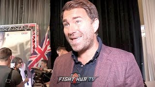 EDDIE HEARN SAYS ANTHONY JOSHUA SHOULDN'T HAVE IMMEDIATE REMATCH WITH ANDY RUIZ JR