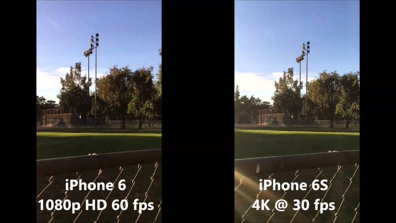 Iphone 6S 4K -vs- Iphone 6 1080p Video Resolution