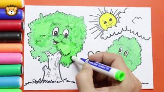 Como Dibujar Paisajes Infantiles -  Dibujos para niños - Draw and Coloring Book for Kids