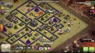 Golem & Tazı & Balon Saldırısı (TH 9) - Clash of Clans