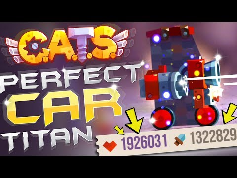Perfect Car (Titan) - Best Build | Cats Game Crash Arena Turbo Star: He destroy prestige machines