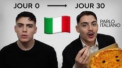 J'APPRENDS L'ITALIEN EN 1 MOIS ! Ft. @Elio Avila Muñoz