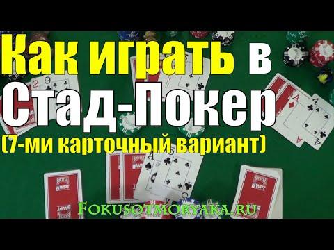 Как Играть в ПОКЕР СТАД 7-МИ КАРТОЧНЫЙ / Карточные Игры Покер / How To Play 7 Card Stud Poker #poker