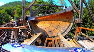 Trackless Wooden Bobsled Coaster - Flying Turns - ...