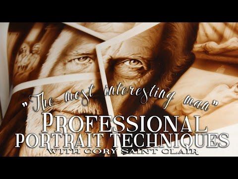 How to Airbrush Portraits - Cory Saint Clair - Professional Portrait Techniques
