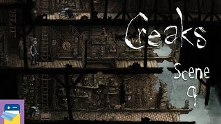 Creaks: Scene 9 Walkthrough + Interactive Painting & iOS Apple Arcade Gameplay (by Amanita Design)