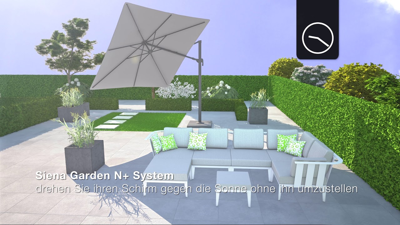Siena Garden Sonnenschirm Platinumparasol Youtube