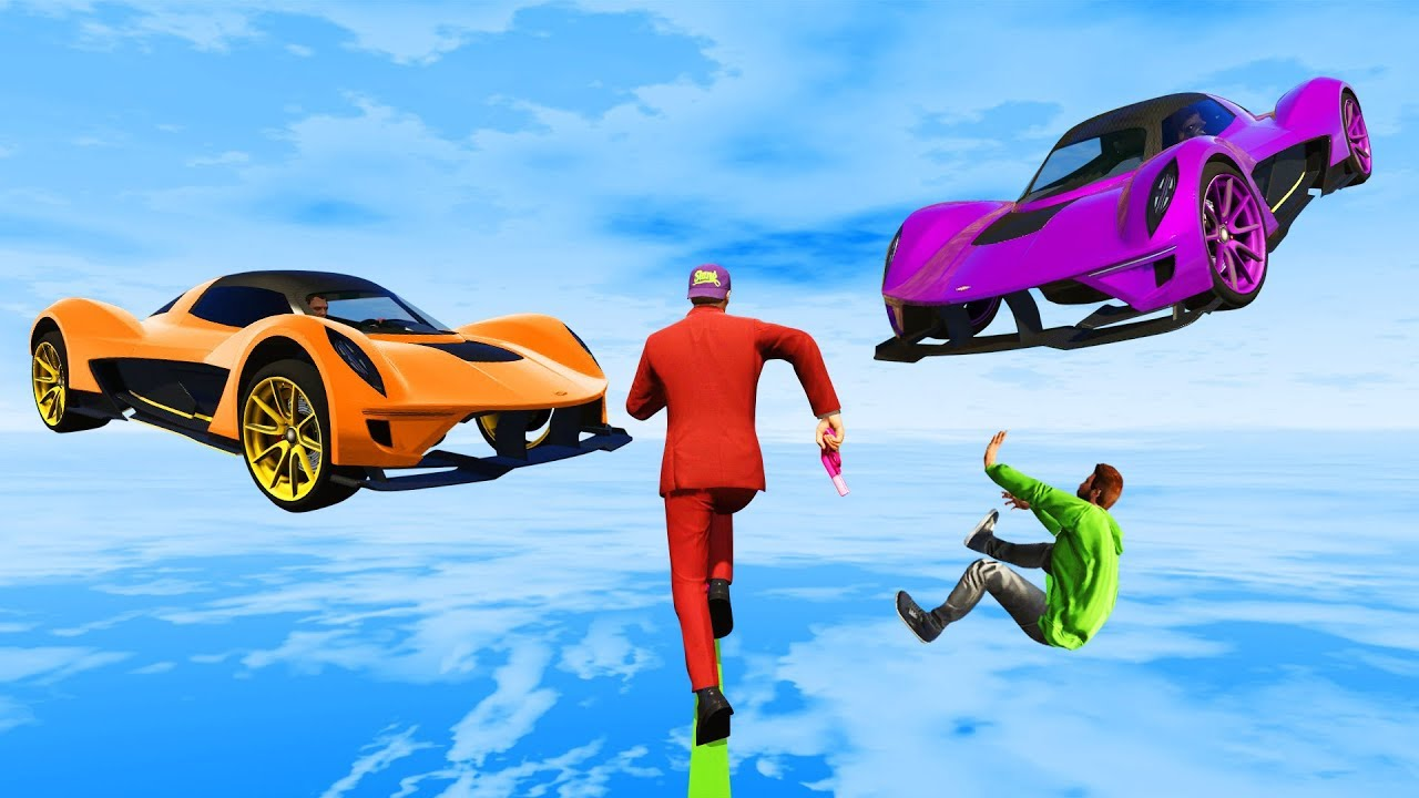 EXTREME Cars vs Runners Tightrope  GTA 5 Funny Moments