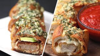 5 Delicious Stuffed Garlic Bread Recipes • Tasty