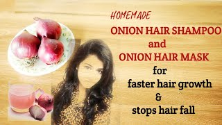 Onion juice for faster hair growth and stops hair fall onion hair mask onion hair shampoo DIY